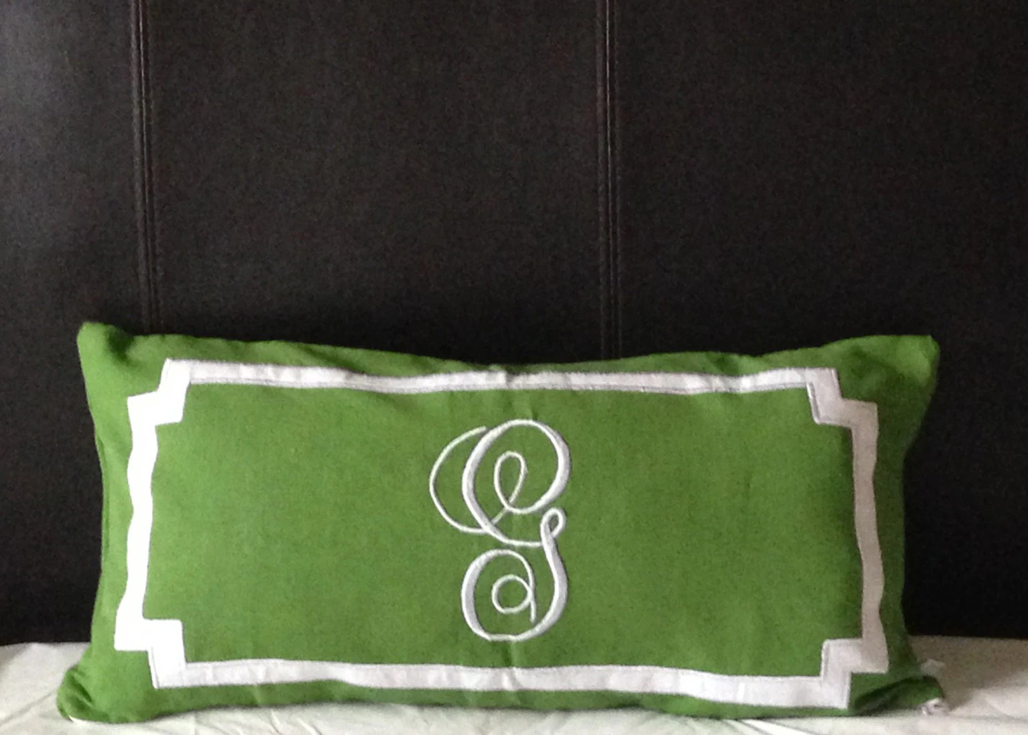 Personalized Long Lumbar Pillow Cover Bedroom by Snazzyliving