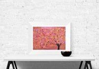 Rustic Wall Art Print Sienna/terracotta Abstract Tree Fine