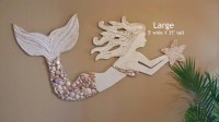 wooden mermaid wall decor - 28 images - wooden rustic blue ...