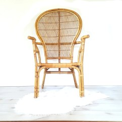 Big Round Bamboo Chair Wicker Chairs New Zealand Arm Vintage Bentwood Rattan High Back