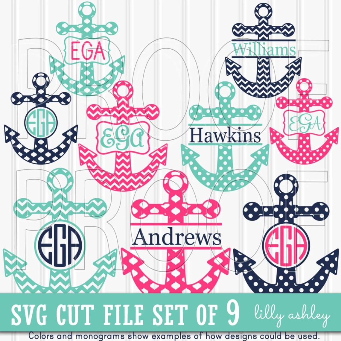 Download Monogram SVG Files Set includes 9 cutting files SVG/JPG