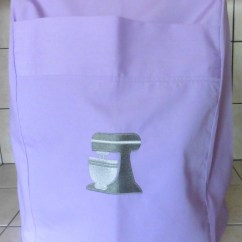 Kitchen Aid Professional 600 Appliances Kitchenaid Mixer Cover Lilac With Embrioded