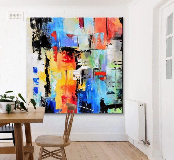 Abstract Painting Contemporary Wall Art Extra Large