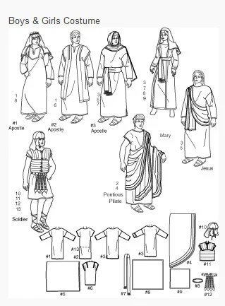 Simplicity Costume sewing pattern 2976 Boys & Girls Easter