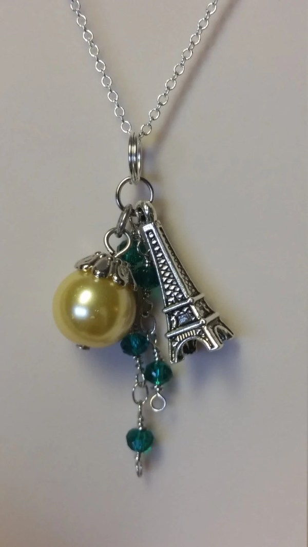 Eiffel Tower Necklace Dangling Beads Paris France Jewelry Free