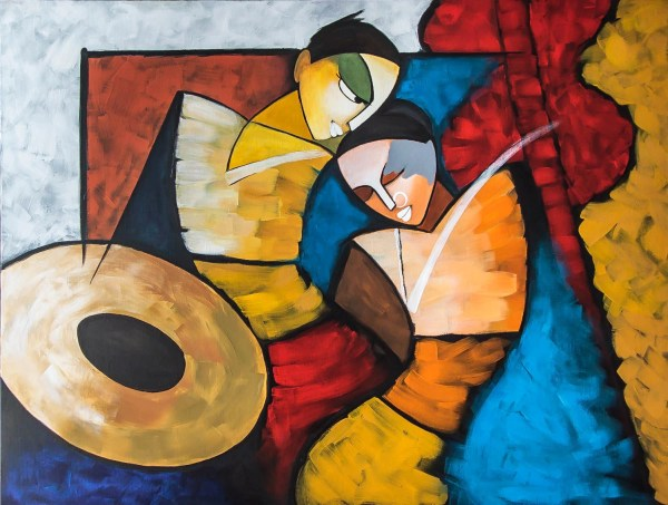 Indian Contemporary Art Modern Painting Radha Krishna