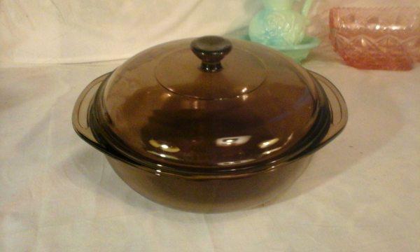 Pyrex Amber Visionware Smoke Brown 1 2 Liter Casserole