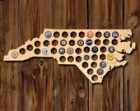 SALE! North Carolina Beer Map - Made of Beautiful Birch Wood! - Bottle Cap Art