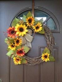 Sunflower Wreath Front Door Decor Summer Wreath for by ...