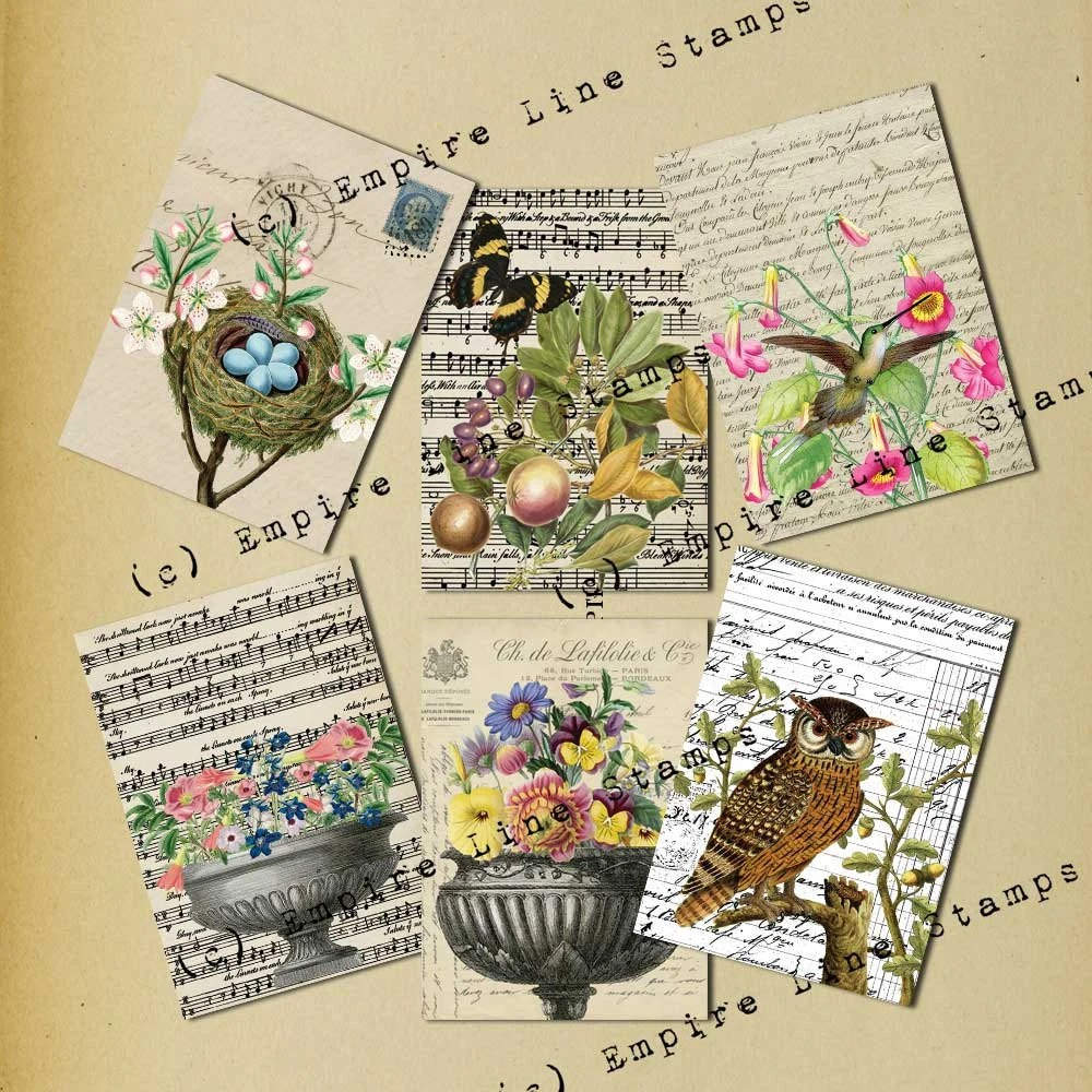 Shabby Collage Antique St...