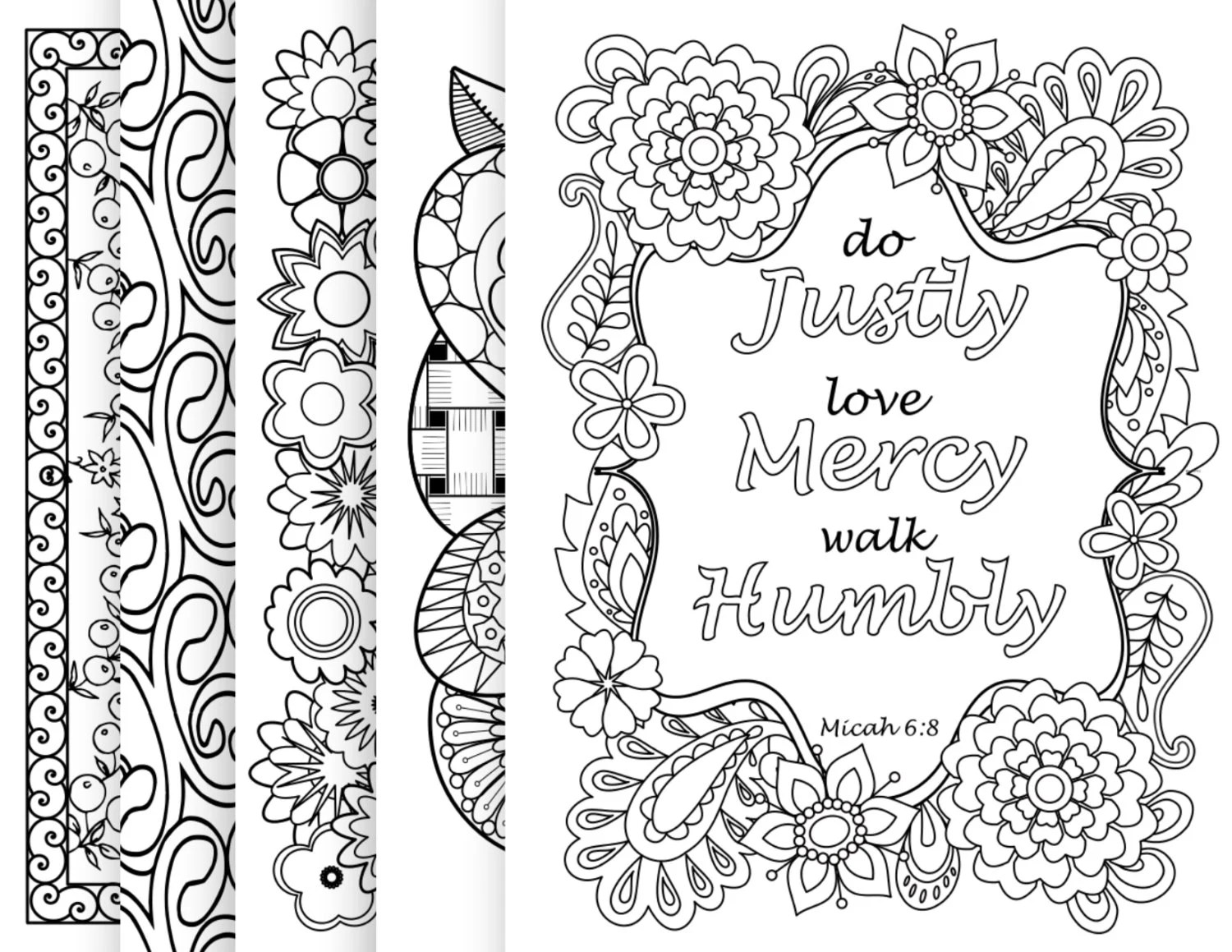 BIBLE COLORING SHEETS Pack 2 Christian by BibleVerseColoring