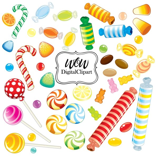 lollipops clipart rainbow candy