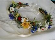 wildflower hair wreath bridal floral