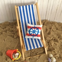 Mini Beach Chair Picture Frames Cover Rentals Youngstown Ohio Miniature Scene With A Blue Striped