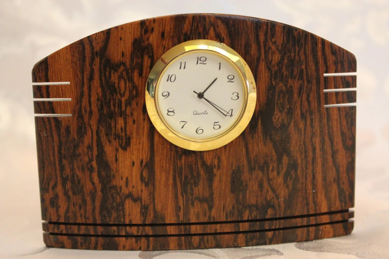 Small Desk Clock Wood Clock