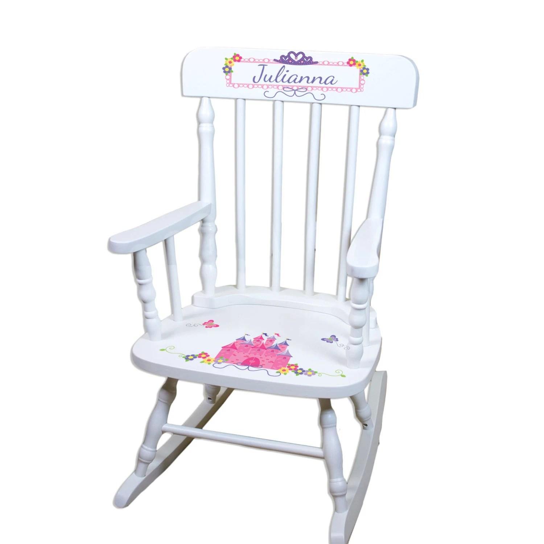 Personalized Princess Rocking Chair Girls Custom Childs Rocker