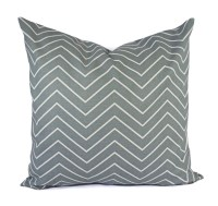 Two Pillow Covers Blue Grey Throw Pillows Chevron Pillow
