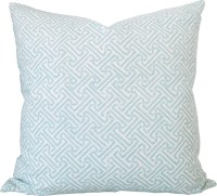Aqua Lattice-High End Designer Decorative Pillow