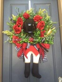 Kentucky Derby Wreath Jockey Wreath Derby by TheWhimsicalDoor
