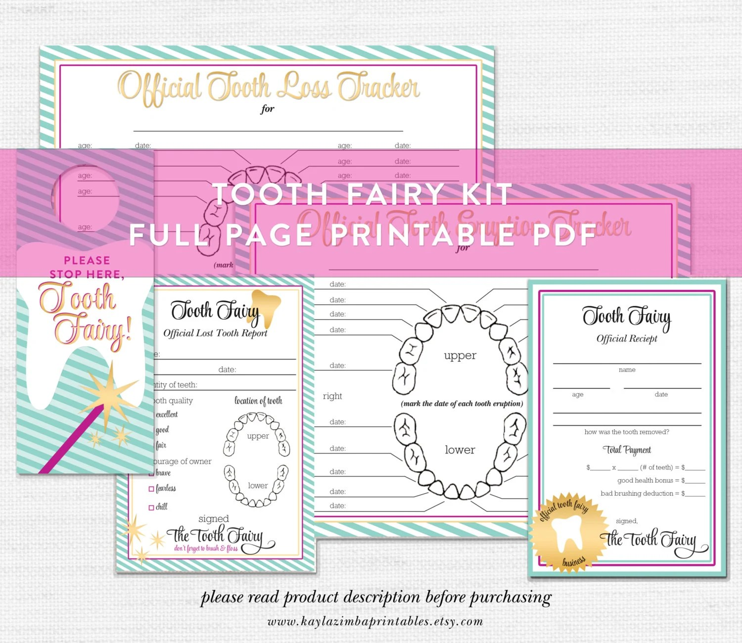 Tooth Fairy Printable Bundle Tooth Fairy Kit Tooth Fairy