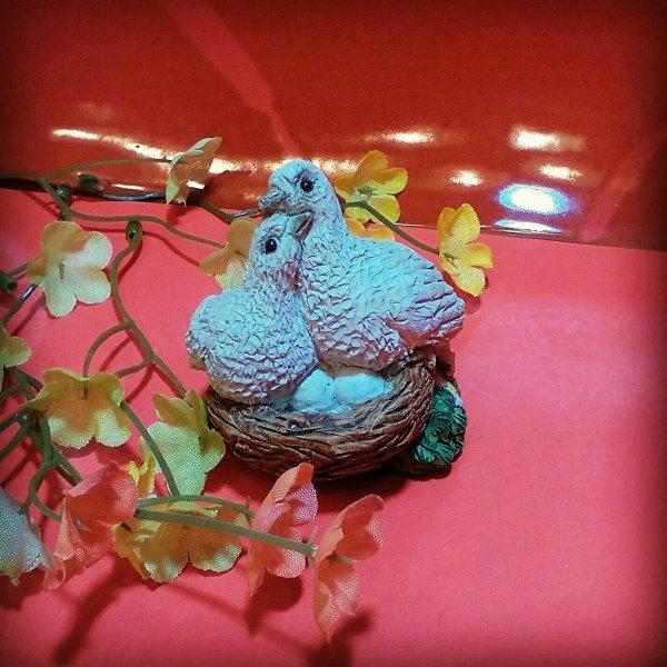 Bird Figurine Dove Stone Critter Collectable Animal