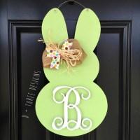Monogram Easter Bunny Door Hanger, Easter Bunny, Easter ...