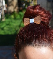 handmade wooden hair bow