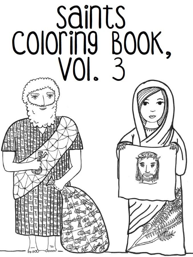 Catholic Saints Coloring Book Vol. 3: Saints Peter by