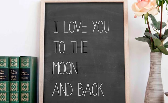Items Similar To I Love You To The Moon And Back Wall Art
