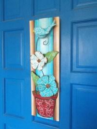 Decorative Door Hanger Plank Art Wall Art Painted Door Art