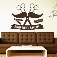 Scissors Wall Decals Comb Mustache Decal Barber Shop by ...