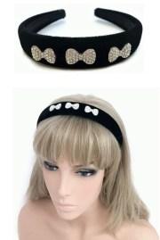 stunning black velvet headband