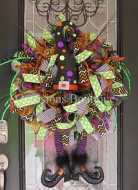 Last One Halloween Wreath Wicked Witch Wreath Halloween