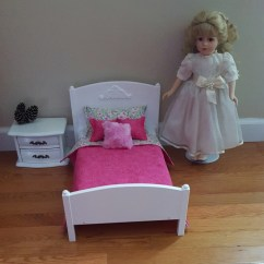 American Girl High Chair Orange Rattan White 1 4 Scale Bed Doll Sized 18 Inch