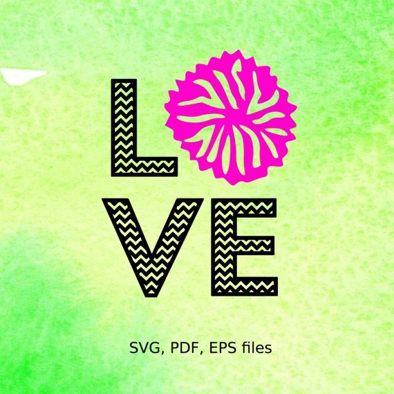 Chevron Cheer Love svg pdf eps files for cutting in