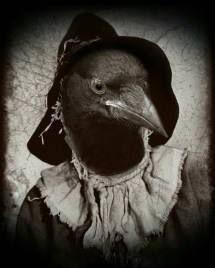 Creepy Art Gothic Surreal Crow Print Dark