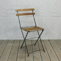 Old Fashioned Metal Lawn Chairs Best Office Massage Chair Vintage French Bistro Folding Wood Side Rustic