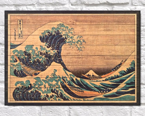 Landscape Japanese Art Wood Wall Famous Painting