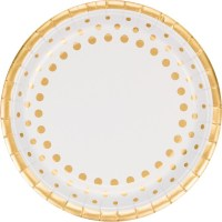 Gold Party Plates Gold Polkadots Gold Glam Party Paper