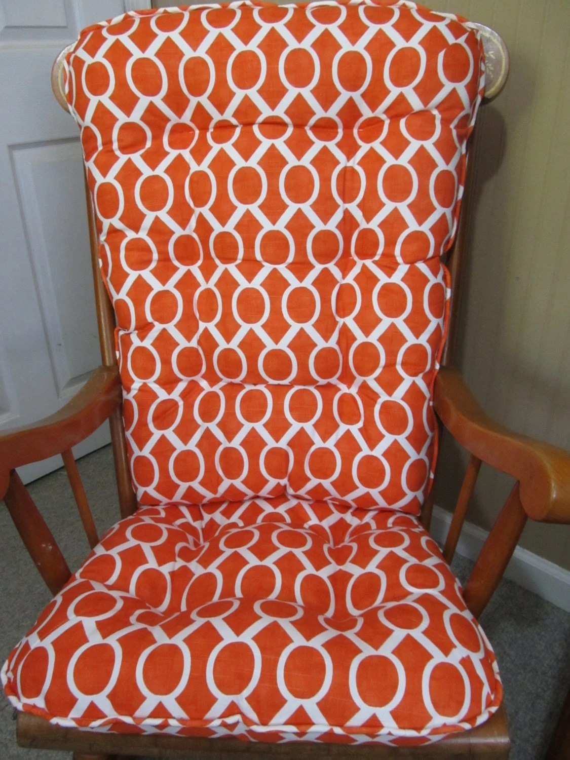 country chair pads wheelchair friendly rocking cushion set in tangelo by cottageaccent