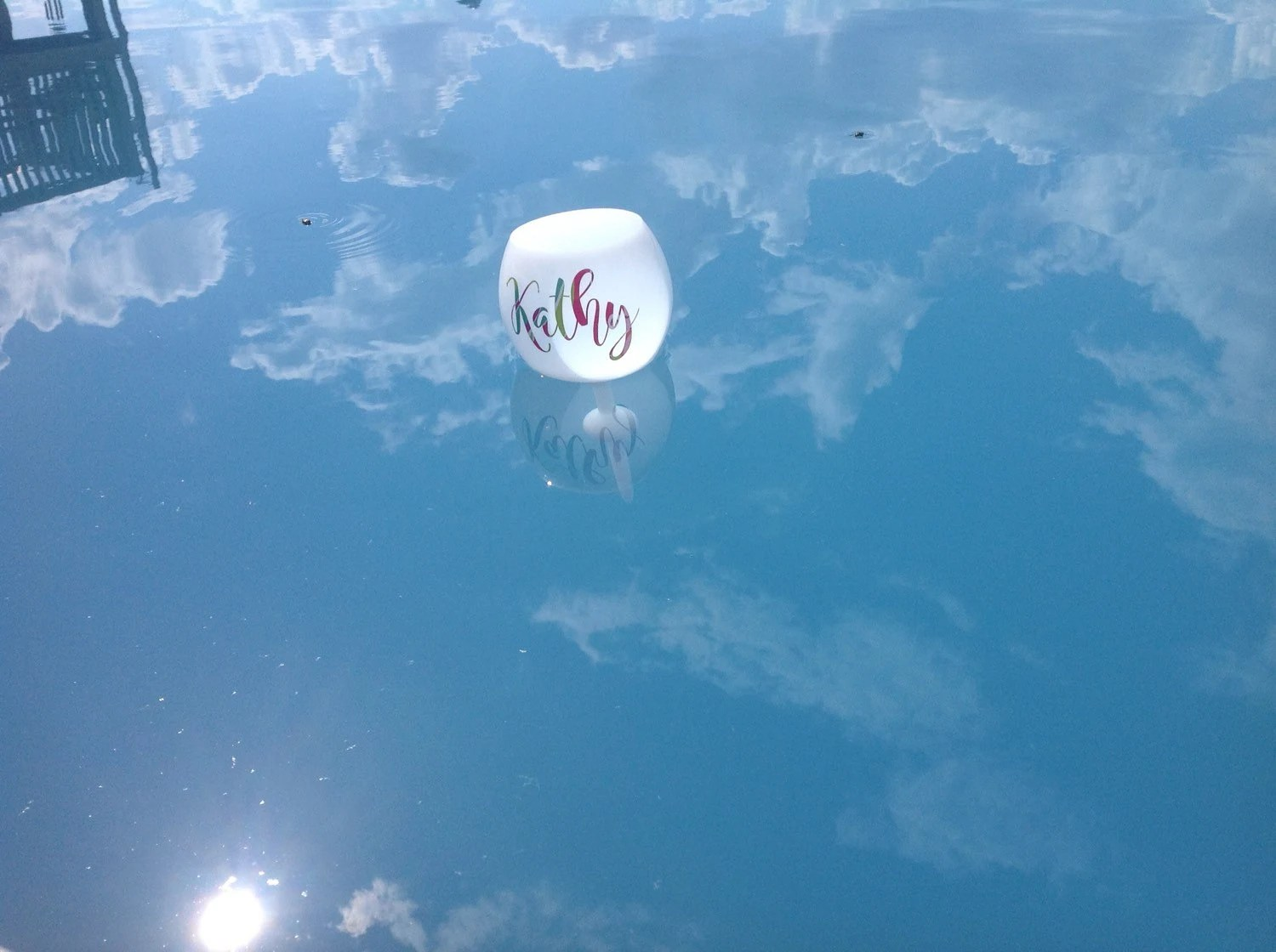Floating Wine Glass Floating Pool Glass by SouthernCelebrateCo