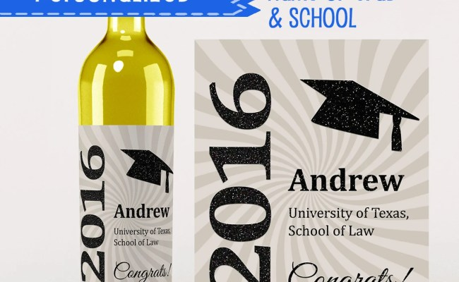 Fun Wine Label Class Of 2016 Personalized Graduation