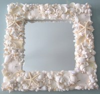 Seashell Mirror Beach Decor Shell Mirror Nautical Decor
