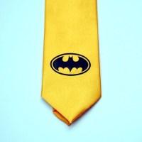 Yellow Batman men's necktie tie unisex