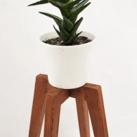 Rustic plant stand wood legs planter base mid by ...