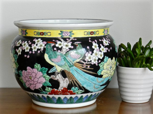 Large Chinese Fish Bowl Planters