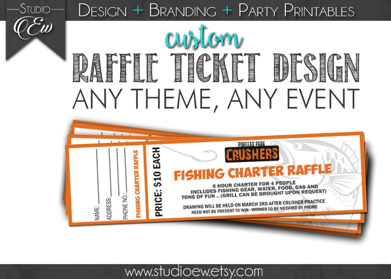 Custom Raffle Ticket Design Any Event Any Theme Fundraiser