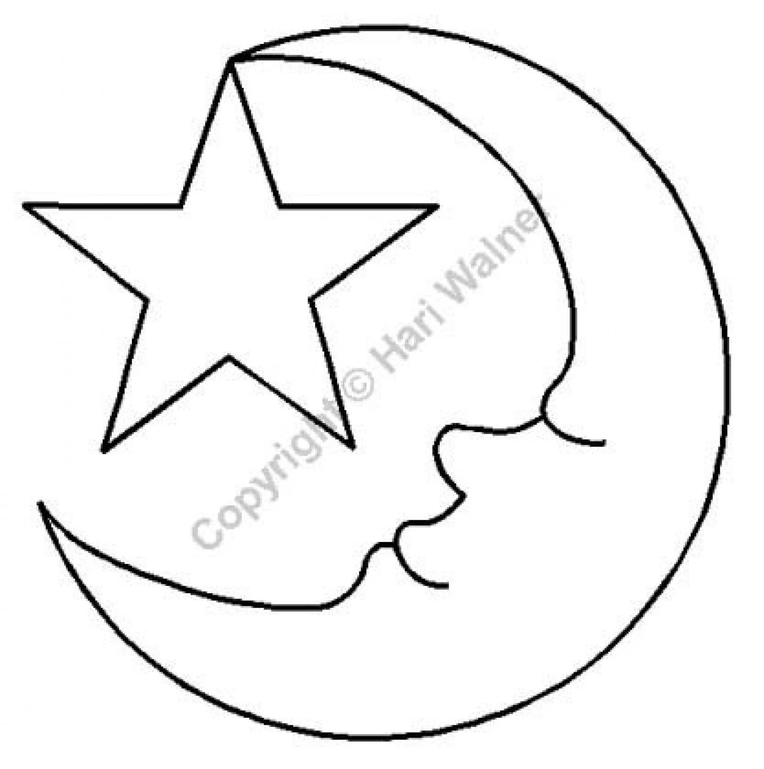 NOTION Stencil Template: MOON and STAR Applique