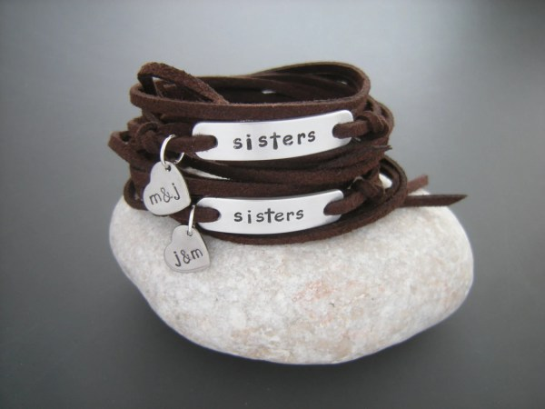 Twin Sisters Bracelets Set Of 2 Personalized Small