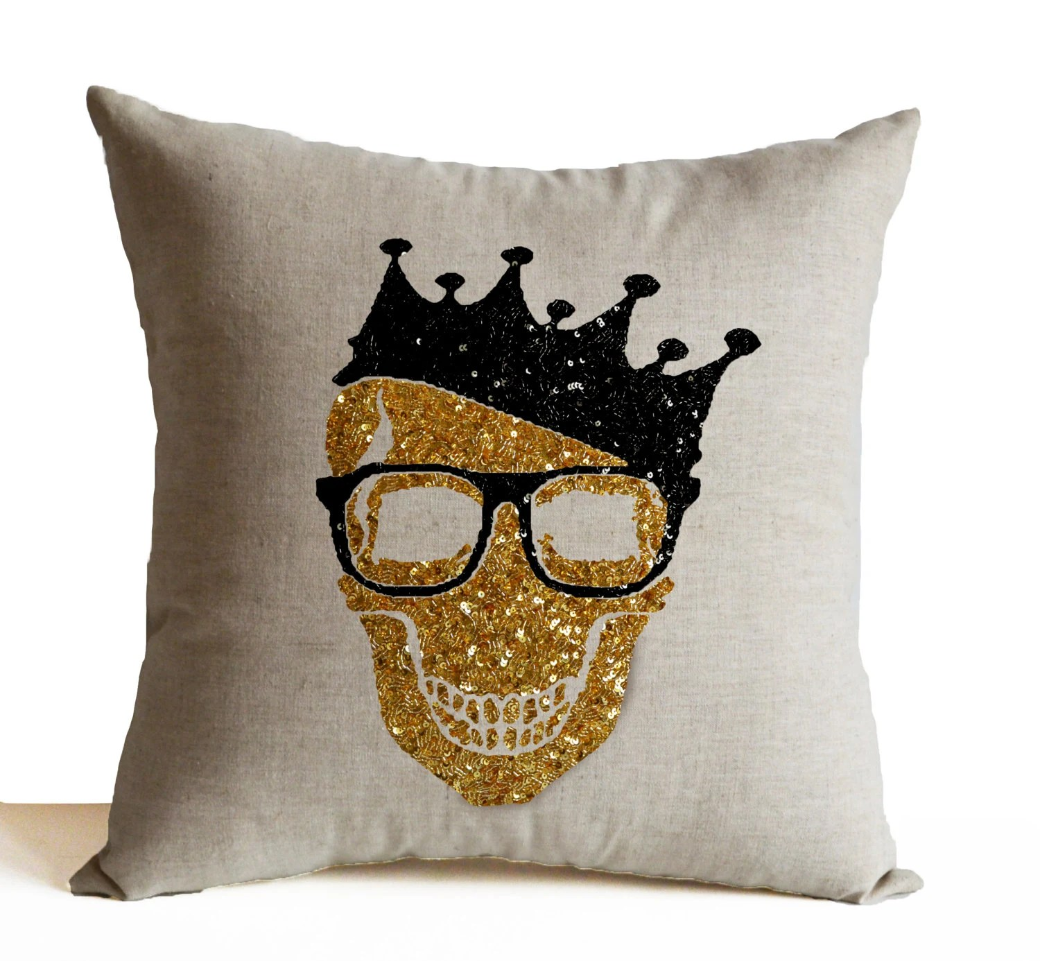 Skull Throw Pillow Cover Halloween Decorative Pillow Case